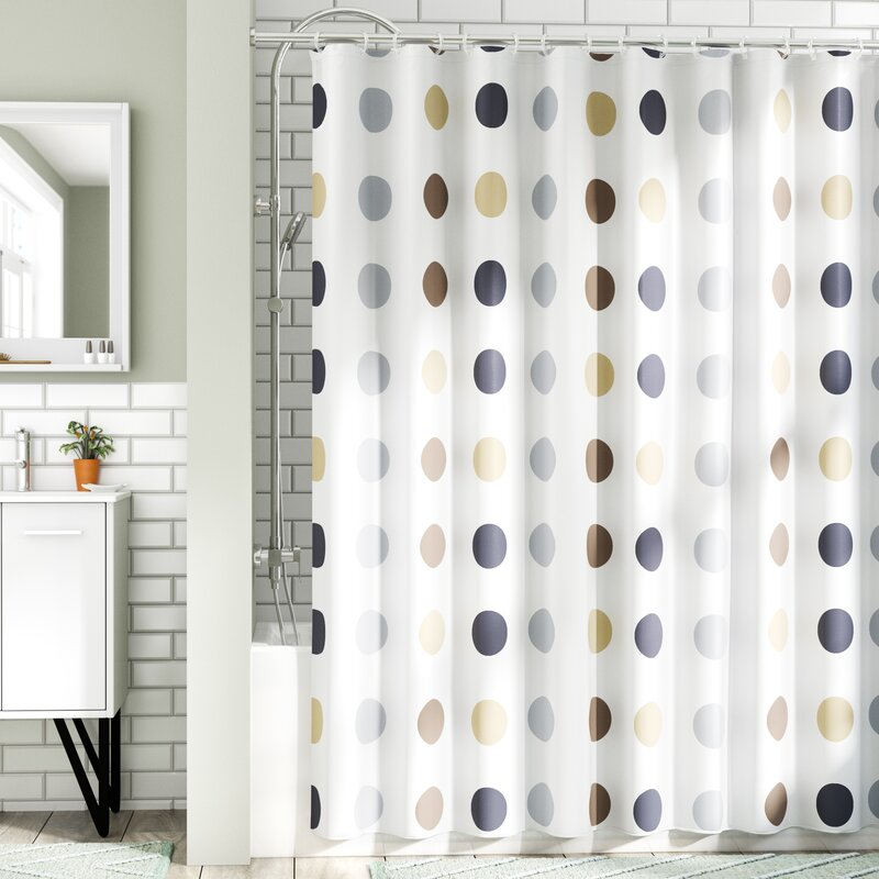 Wrought Studio Montano Extra Long Twister Fabric Shower Curtain