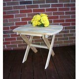 Anika Folding Wooden Side Table in 24 inch H x 18 inch W x 16 inch D