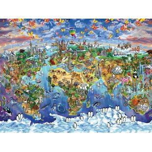 Large world map canvas wayfair world wonders map canvas wall art gumiabroncs Images