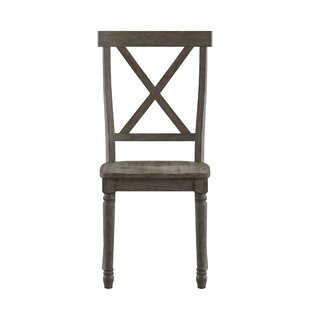 Butte X-Back Solid Wood Dining Chair (Set of 2) Alcott Hill