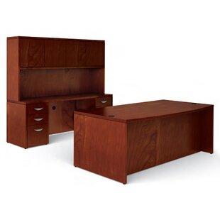 Offices To Go Ventnor 3-Piece Standard Desk Office Suite