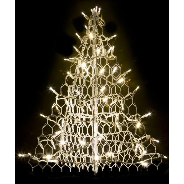 Crab Pot Christmas Tree With 80 Led Mini Lights