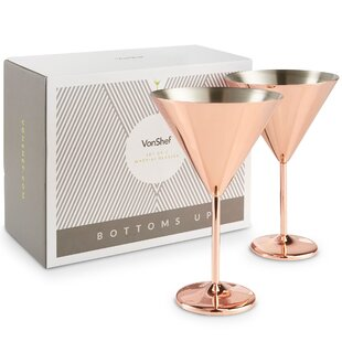 Devaney Martini 443ml Stainless Steel Cocktail Glass (Set Of 2) By Fairmont Park