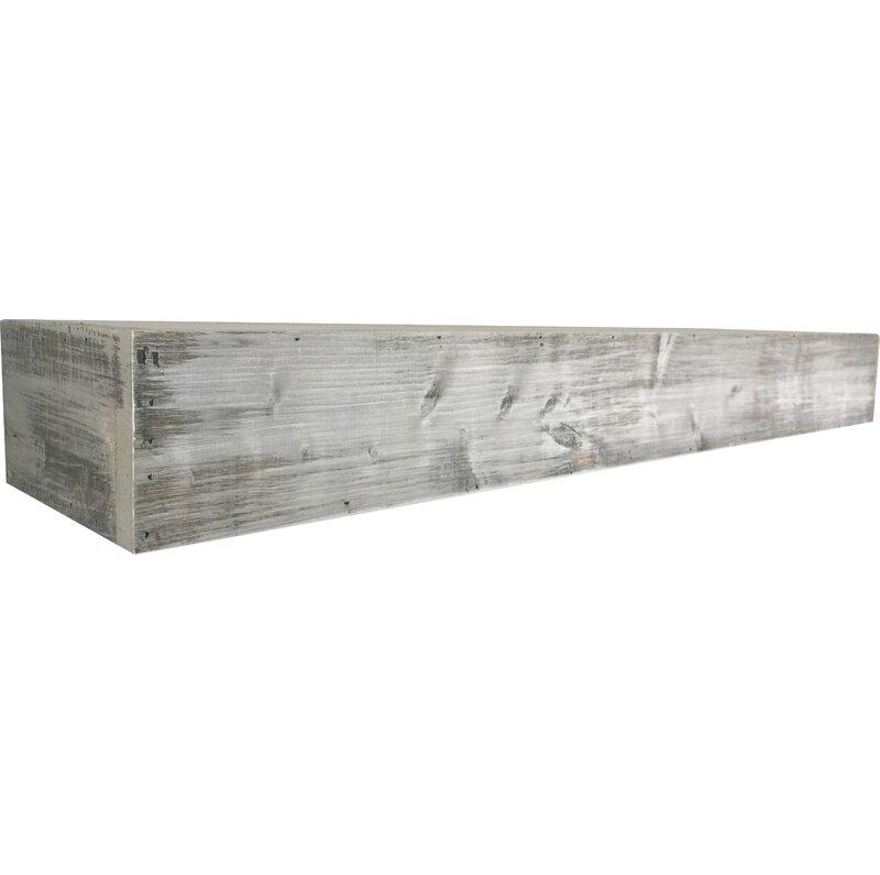 White gray solid wood office Shaped White Floating Shelf In Shabby White Solid Wood Handmade Rustic Style Shelf Reviews Joss Main Stvol Dream House Ideas Floating Shelf In Shabby White Solid Wood Handmade Rustic Style