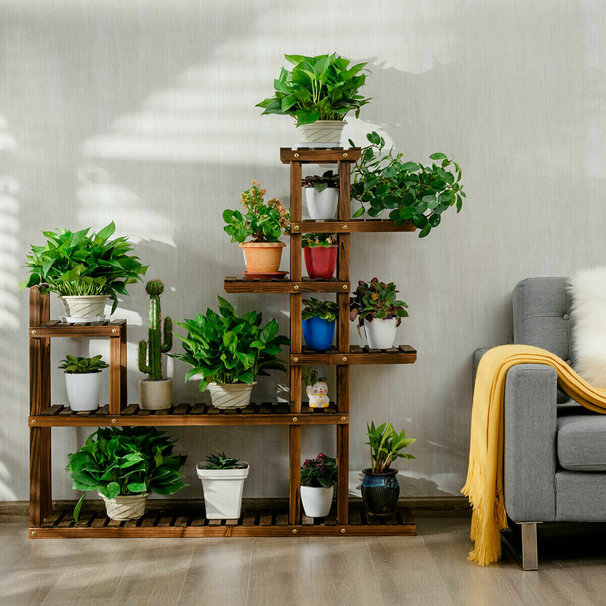 Costway Free Form Multi Tiered Plant Stand Wayfair