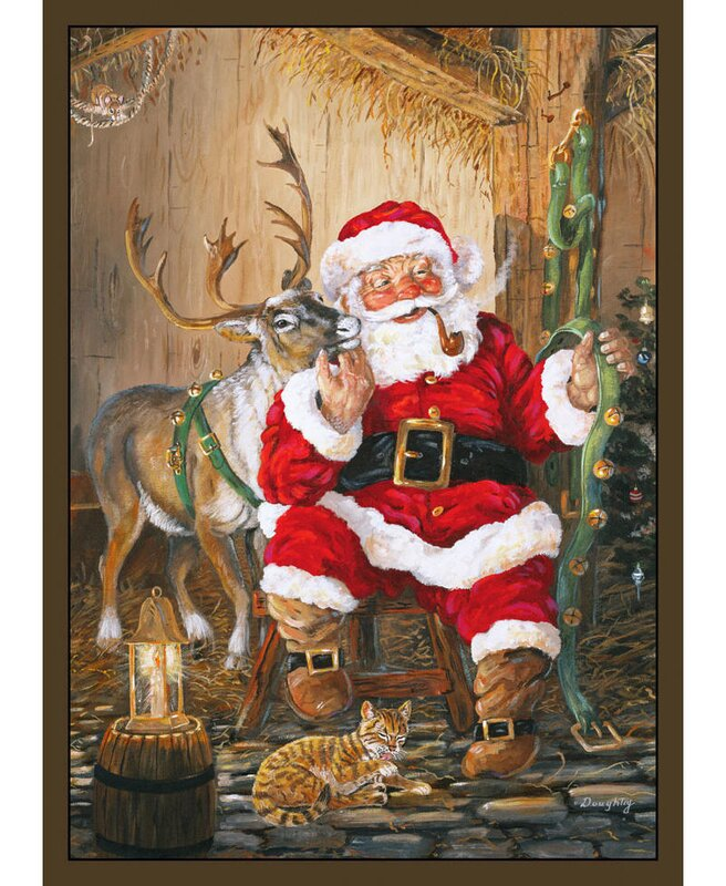 The Holiday Aisle Santa and Reindeer Area Rug & Reviews | Wayfair