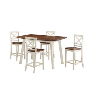 Yeboah 5-Piece Counter Height Dining Set by August Grove