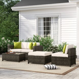 Carmelo 5 Piece Sectional Seating Group with Cushions