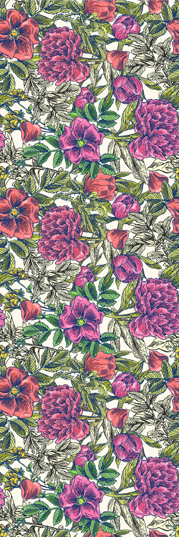 Bungalow Rose Kelloch Removable Retro Floral Mix 6 25 L X 25 W