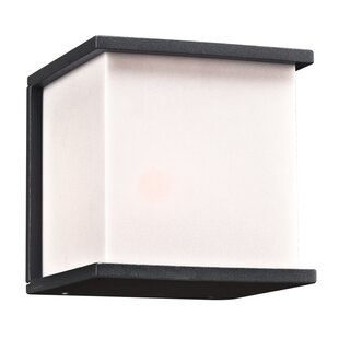Wrought Studio Carpentier 1-Light Outdoor Flush Mount