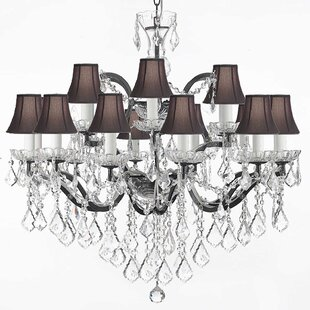 Rosdorf Park Berger 18-Light Shaded Chandelier