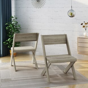Indoor Farmhouse Solid Wood Dining Chair (Set Of 2) by Bay Isle Home Herry Up