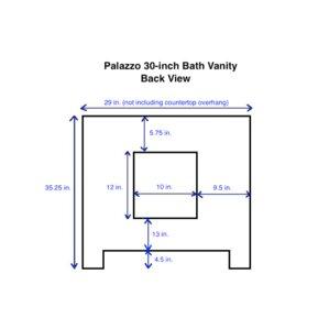 palazzo 30 single bathroom vanity set