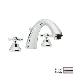 Rohl Verona Widespread Bathroom Faucet with Pop-Up Drain and Cross Handle