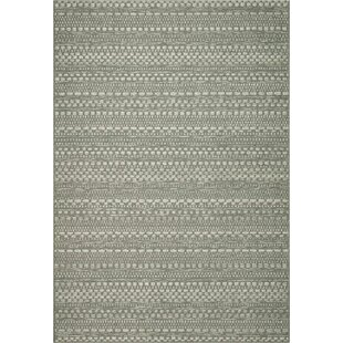 Natural Indoor/Outdoor Green Rug By World Menagerie