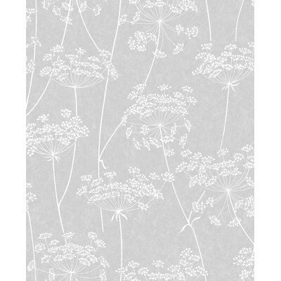 Charlton Home Mount Washington Aura 33' x 20 Floral and Botanical Wallpaper Color: Cloud Gray