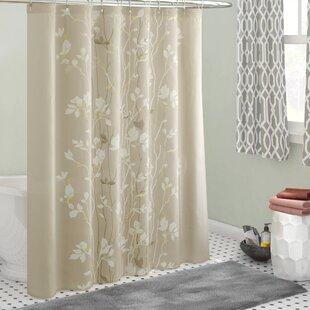 Beige shower curtains Purple Herrin Single Shower Curtain Wayfair Nature Floral Shower Curtains Youll Love Wayfair
