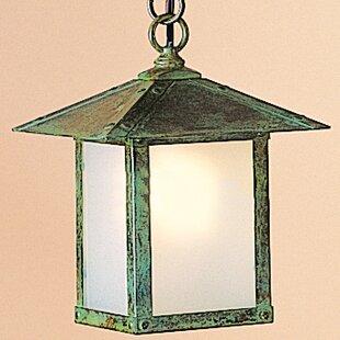 Arroyo Craftsman Evergreen 1-Light Outdoor Hanging Lantern
