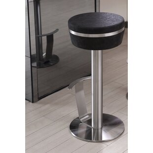 Havant Adjustable Height Swivel Bar Stool Orren Ellis