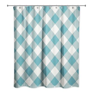 Callista Plaid Single Shower Curtain by August Grove Great Reviews
