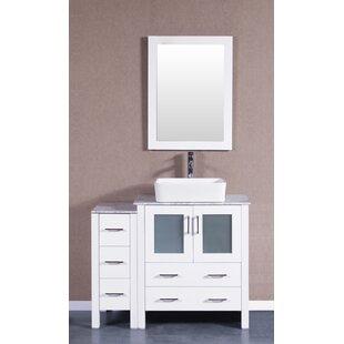 Laurel 42 Single Bathroom Vanity Set with Mirror by Bosconi