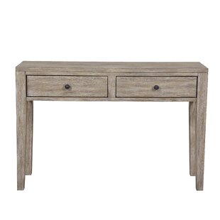 Flavie Distressed Wood Two Drawer Accent Storage Console Table