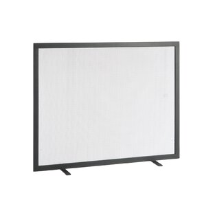 Rectangular Single Panel Iron Fireplace Screen By Symple Stuff