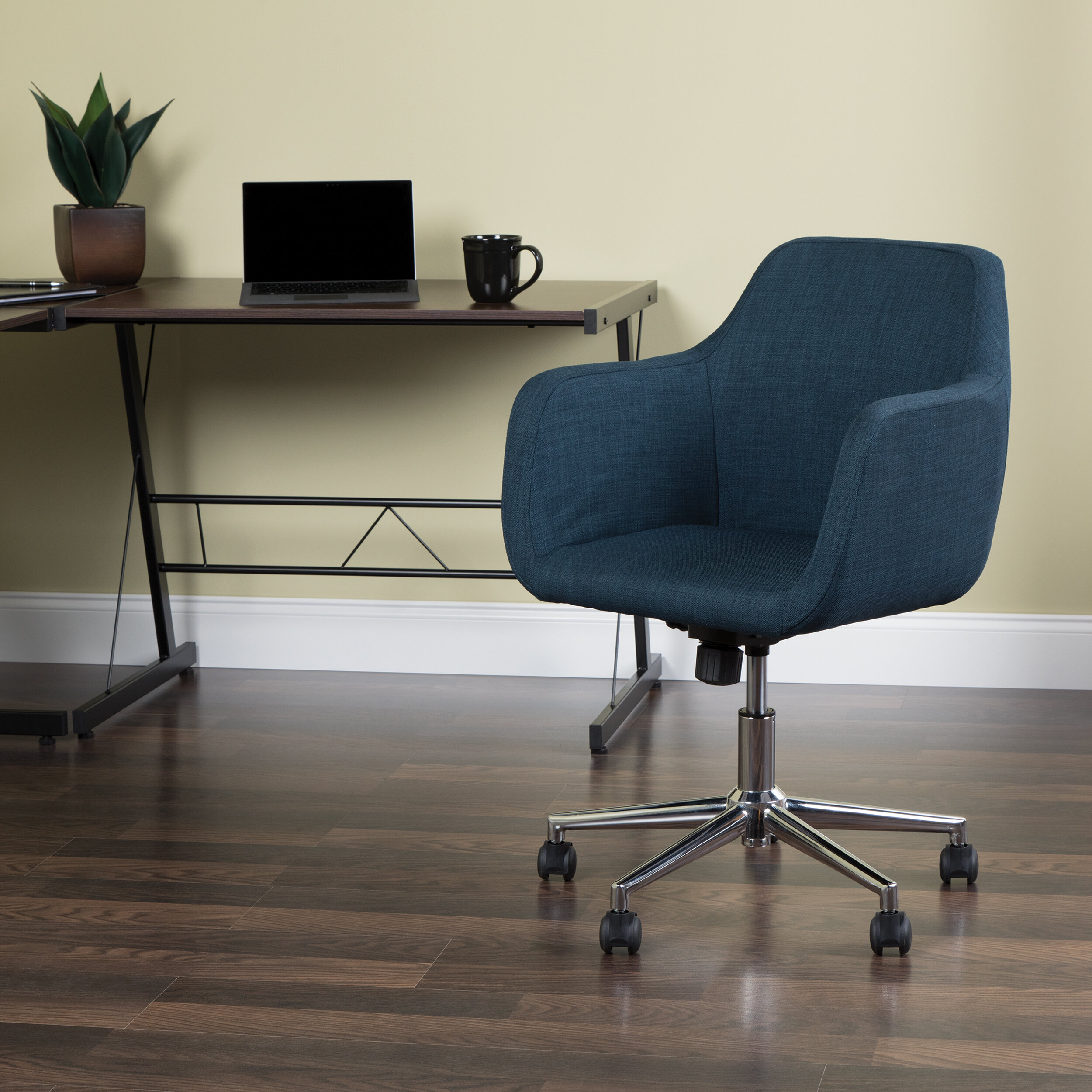 Image of: Worsley Upholstered Home Office Chair Reviews Joss Main