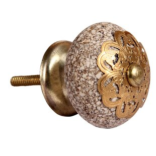 Keene Crackle Finish Clay Round Knob (Set of 2)