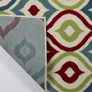 Priscila Red/Blue/Green Indoor/Outdoor Area Rug