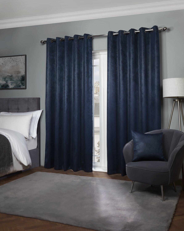 Navy Curtains You Ll Love Wayfair Co Uk