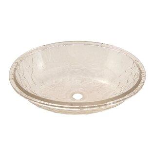 JSG Oceana Glass Oval Undermount Bathroom Sink