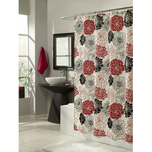 Full Bloom Microfiber Shower Curtain by m.style