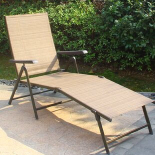 Winston Porter Redcastle Outdoor Reclining Chaise Lounge