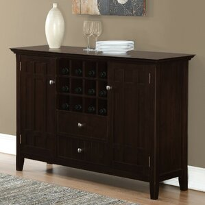 Bedford Sideboard and Wine Rack by Simpli Home