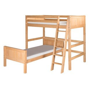 Oakwood Traditional Twin over Twin L-Shape Bunk Bed