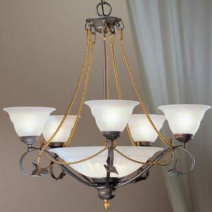 Classic Lighting Verona 8-Light Shaded Chandelier