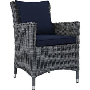 Keiran Patio Dining Chair with Cushion