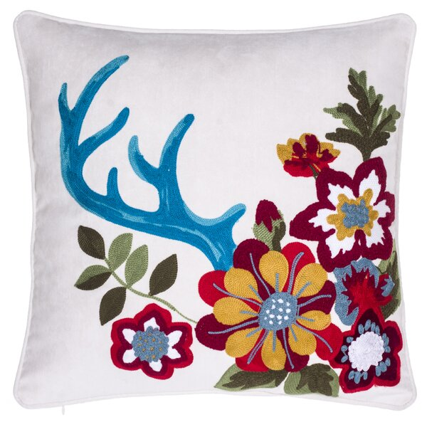 Embroidered Floral Pillow Wayfair