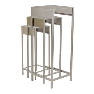 Top Reatha Contemporary Iron 3 Piece Nesting Plant Stand Set By Ivy Bronx