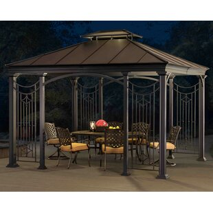 12 Ft. W x 10 Ft. D Aluminum Patio Gazebo by Sunjoy
