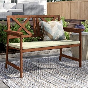 Arianna Wooden Garden Bench by Langley Street