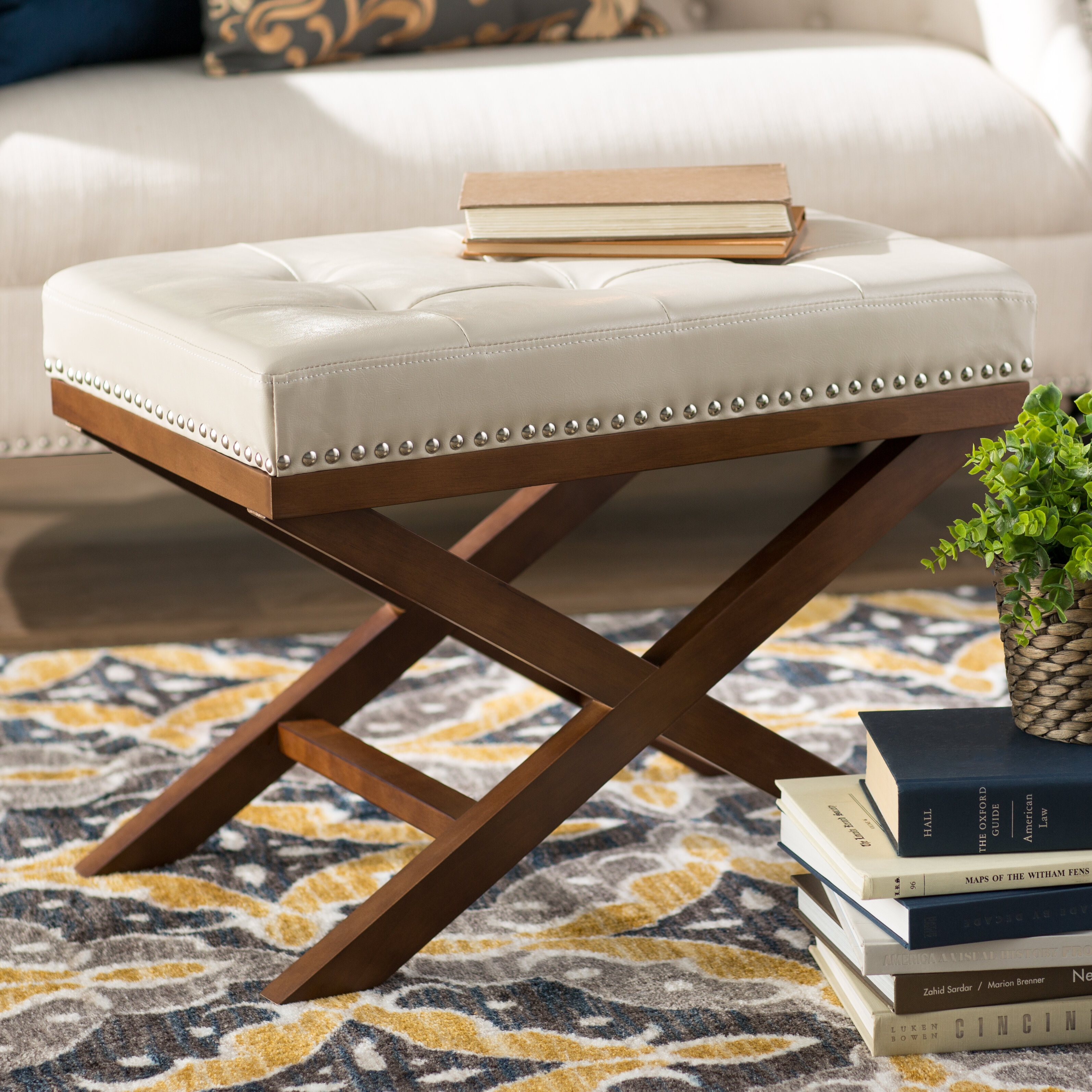 Swell Lewiston Tufted Ottoman Theyellowbook Wood Chair Design Ideas Theyellowbookinfo