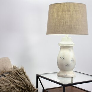 Penley Concrete Drum Shade 28 Table Lamp