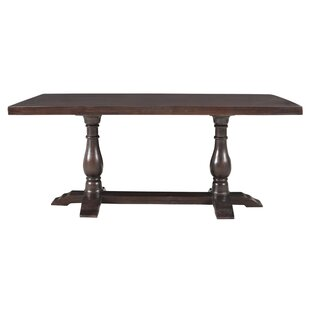 Maliyah Pedestal Solid Wood Dining Table by Longshore Tides Best