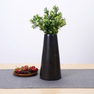 Syren Decorative Tapered Barrel Mango Wood Table Vase