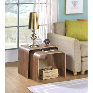 George Oliver Drewry Bentwood 2 Piece Nesting Tables