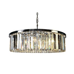 White Wing 8-Light Crystal Chandelier