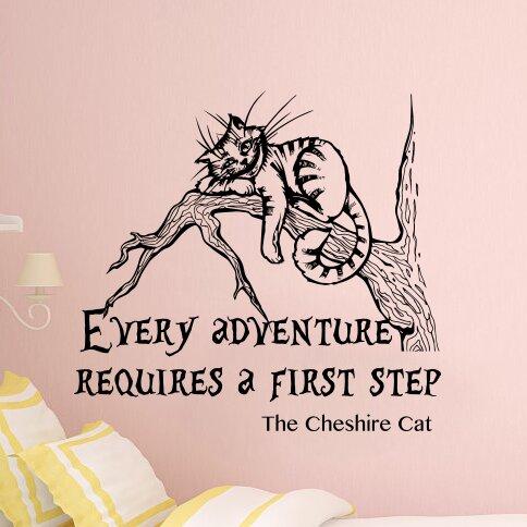 Harriet Bee Bartee Cheshire Cat Alice In Wonderland Quote Wall Decal Wayfair