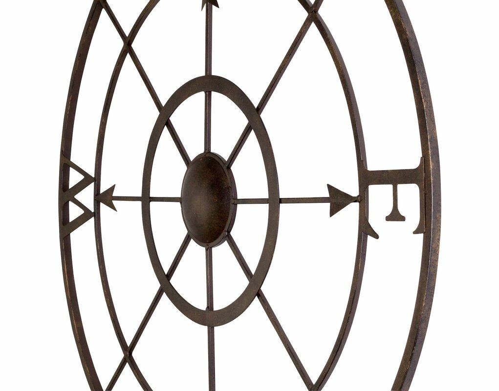 retro compass rose wall décor & reviews | birch lane